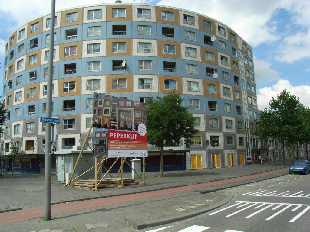 Renovatie  Entree Peperklip Rotterdam